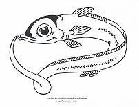eel coloring page