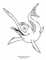swordfish coloring page