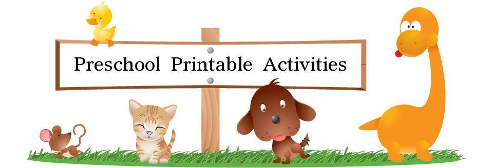 free preschool printable activities - Preschool Printable Activities